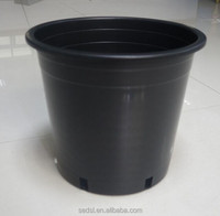 1/2/3/4/5/7/10/15/20/25 gallon pot supply plastic gallon pot black garden and nursery pots pp