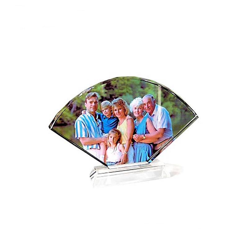 Hot sale personalized Fan-shaped sublimation <strong>crystal</strong>,blank photo frame