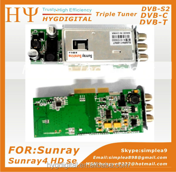 Triple Tuner -S2/-C/-T for Sunray sr4 sunray4 Triple tuner 3 in1 S C T Sunray 800Se hd Sr4 | sunray4 hd se sr4 800 SE