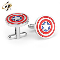 2016 new hot products custom fashion metal Captain America cufflink for wholesale