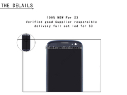 2016 new cell phone spare parts for samsung galaxy s3 i9300 lcd