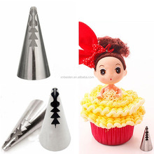 Stainless Steel Cake decorating silicone pastry bag piping bag and tips/korean piping tips