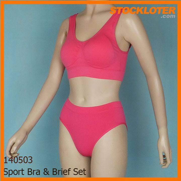 Cheap and Fashion Sport Bra & Brief Set Overstock
