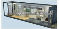 Fast assemble wooden steel prefabricated container house home for sale