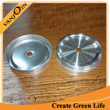 82MM Stainless Steel Screw Die Cut Cap For Straw