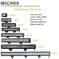 "4""/7""/9""/12""/15""/17""/20""/36"" dual row CREE LED light bar for truck SUV ATV offroad"
