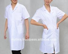 Short Medical cotton lab coat, Half Sleeve dental coats.
