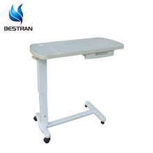 BT-AT009 Height adjustable hospital bed table with drawer