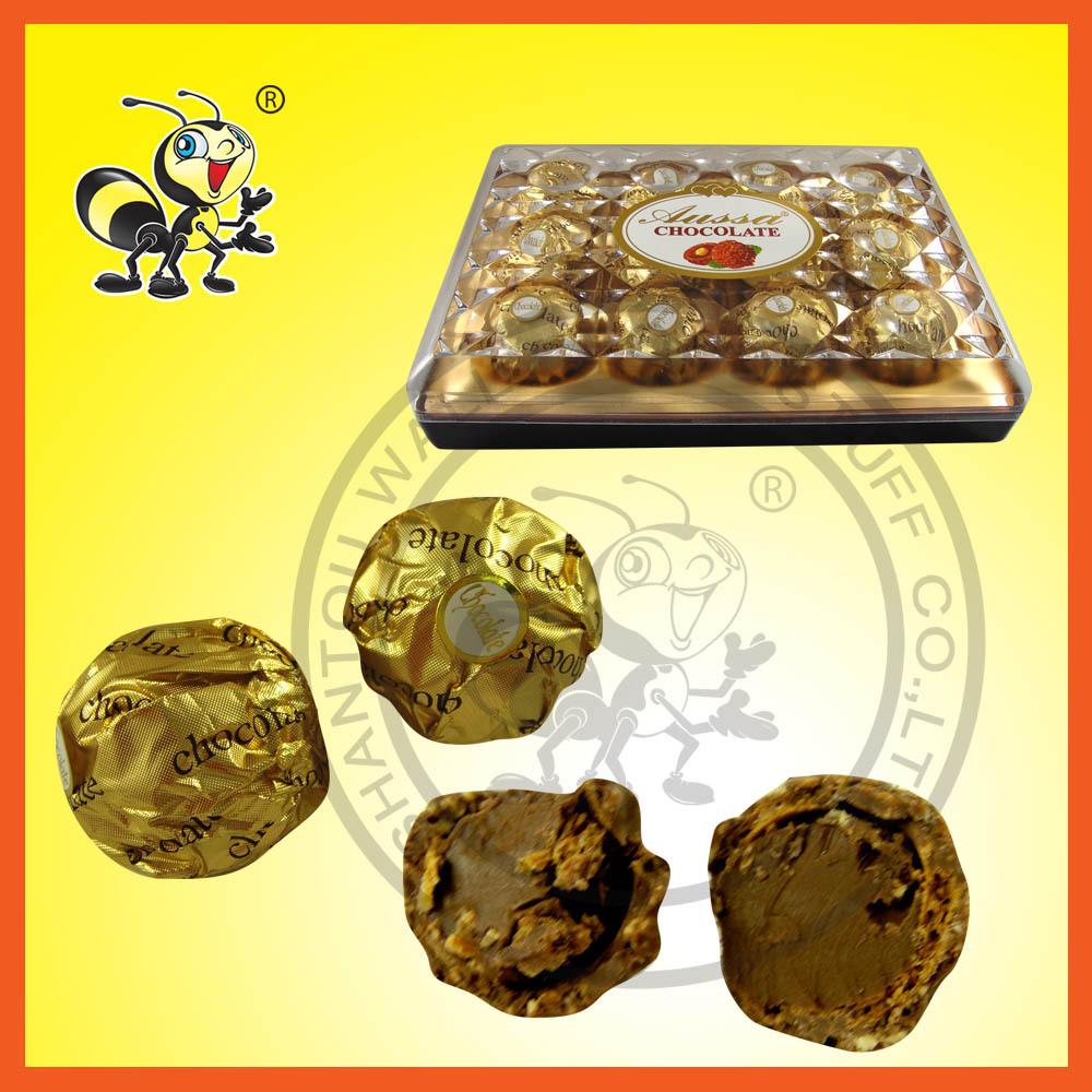 최고급 화합물 초콜릿 웨이퍼 비스킷 사탕 공 선물 상자 비슷한 페레로 rocher