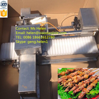 Low price meat skewering machine, automatic meatball skewer machine, kebab making machine