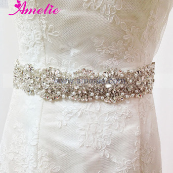 Crystal Wedding Dress Sash Applique