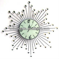 Wall hanging home decoration antique rustic metal wall clock