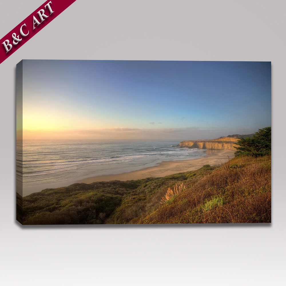Natural Seascape Picture Printing Painting Morning Sea View Canvas Art for Wall Decor