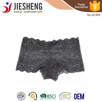 Young Girls Hot Sexy Full Lace Boyshorts Transparent Panties JS964 Accept OEM