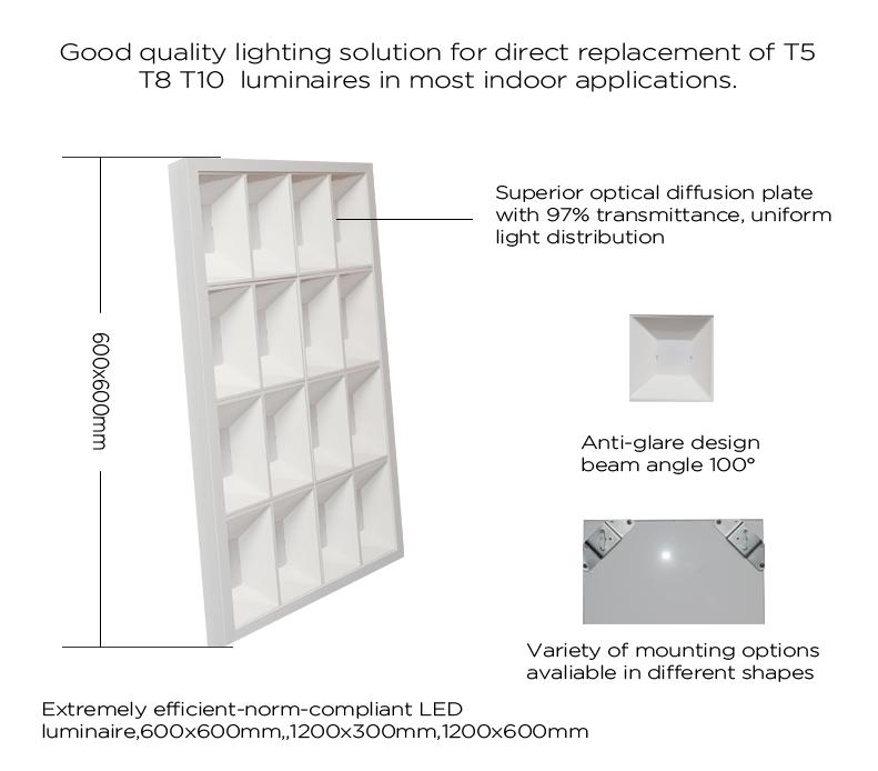 300x300 30x30 Led Lighting Panel Integrated Kitchen: Suspending Led Grille Led Panel Light 36w 600*600mm Smd