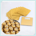 aluminium foil for coin chocolate wrapper,aluminium chocolate foil wrapper with customized specific,gold