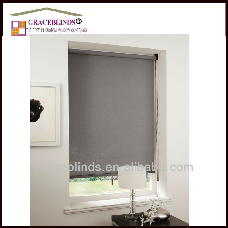 100% polyester blackout sunscreen manual blackout roller blinds and window curtain fabric