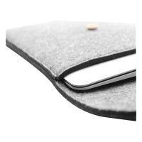 13 inch 3 mm nylon felt laptop sleeve bag with button
