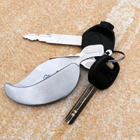 Hot Sale Leaf Shape Gift Knife Stainless Steel Mini Cute Bottle Opener keychain Folding Knife