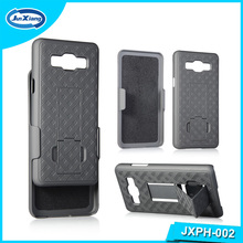 Heavy Duty Belt Clip Case Super Slim Hard Shell Holster Clip Cover with Kickstand for Samsung ON5