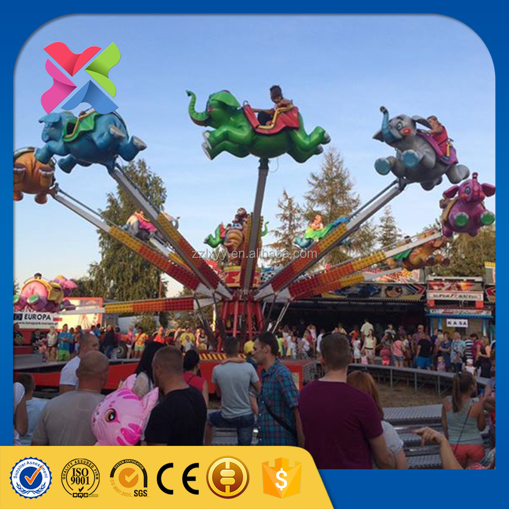 modern kids amusement park rides fairground attractions flying elephant self-control plane for sale