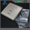 Factory Price High Quality two ports faceplate/dual ports faceplate in network cables face plate