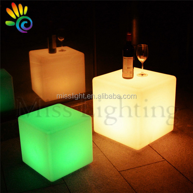 remote control rgb color changed rechargeable cube shaped led night lights
