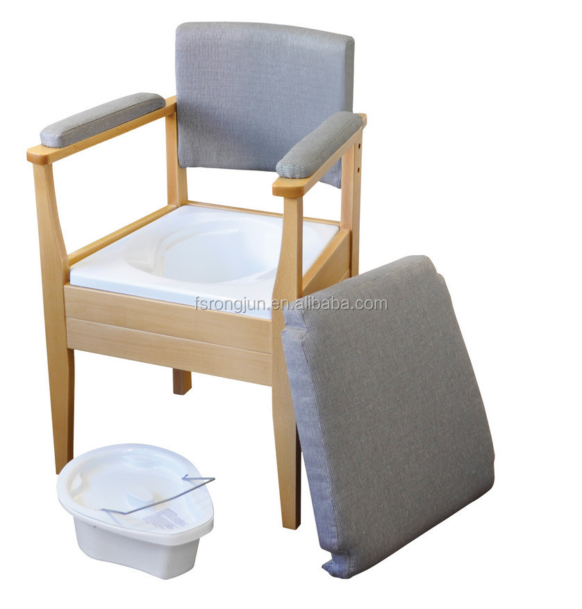 Hospital Elderly Folding Commode Chair Potty Chair Toilet Chair RJ C521 2