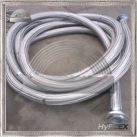 Flexible Braided Metal Hose assembly / Pump Connector with cs/ss flange ends