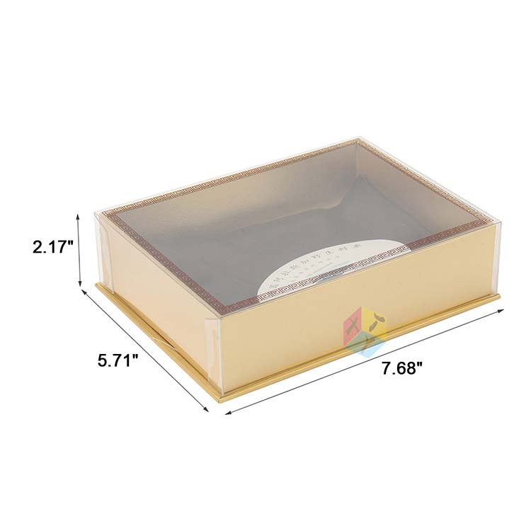 luxury gold gift clear lid food grade paper box