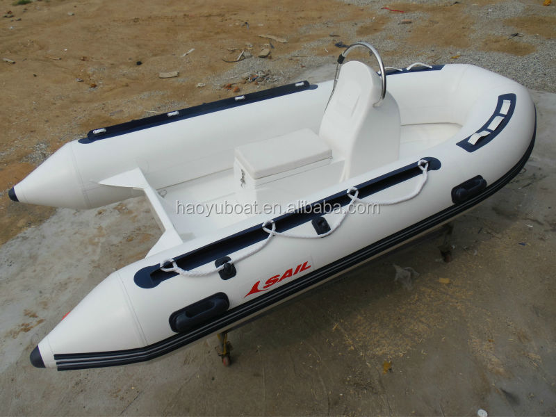 12ft RIB360A recsue boat with CE 3.6M fiberglass hull rigidl Qingdao inflatable boat