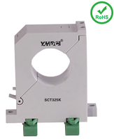 Split core din rail or plate mount current transformer