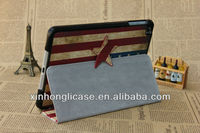 for ipad mini flip cover case flag leather cover case