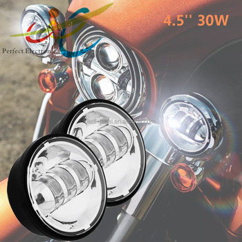 4.5 Inch 30W LED Fog Lights Projector Auxiliary Daymaker Headlight Passing Fog Light Lamps For Harley Davidson Motorcycle