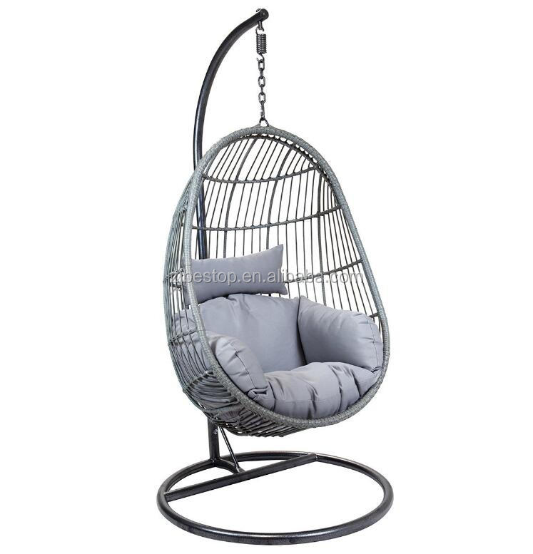 Cheap rattan hanging egg chair garden furniture outdoor swings sets for adults