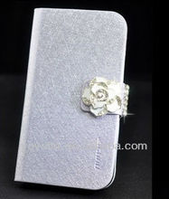 Camellia Bling Crystal Diamond Leather Flip Case Cover for iPhone5