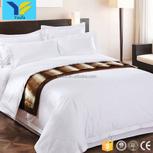 High quality white cotton four pieces 60s sateen wholesale comforter sets bedding hotel bedding set