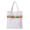 Promotinal printed plain white cotton canvas tote bag/cotton carry bag