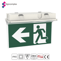 signcomplex smd LED emergency light exit sign,led exit signal light with SAA CE RoHS