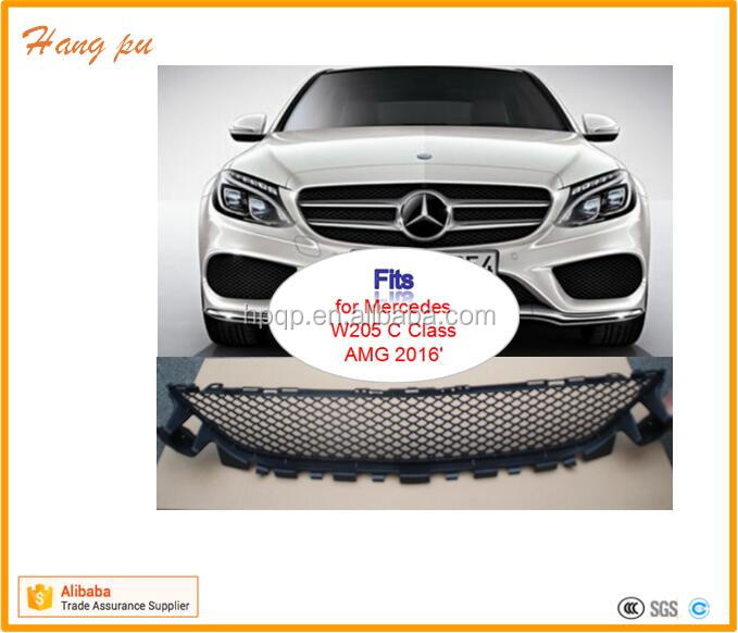auto body parts front bumper lower mesh gril grille A205 885 2123 for W205 AMG