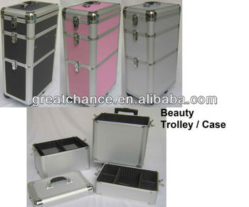 MAKE UP BEAUTY NAIL CASE COSMETICS BAG TROLLEY HAIRDRESSING ART VANITY COLOURS