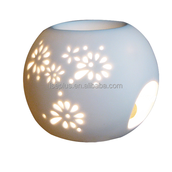 Essential Aroma Oil Burner Round shape ceramic candle warmer and Wholesale LS Eplus