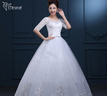 Minzart WD-DZ 0271 Hot design holy bridal beaded satin coarse mesh hoe sell wedding a-line wedding dress online shop