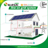 Bluesun 3kw grid tie solar panel energy system with on grid inverter