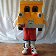Hola taxi car mascot costume/mascot/mascot costumes for sale