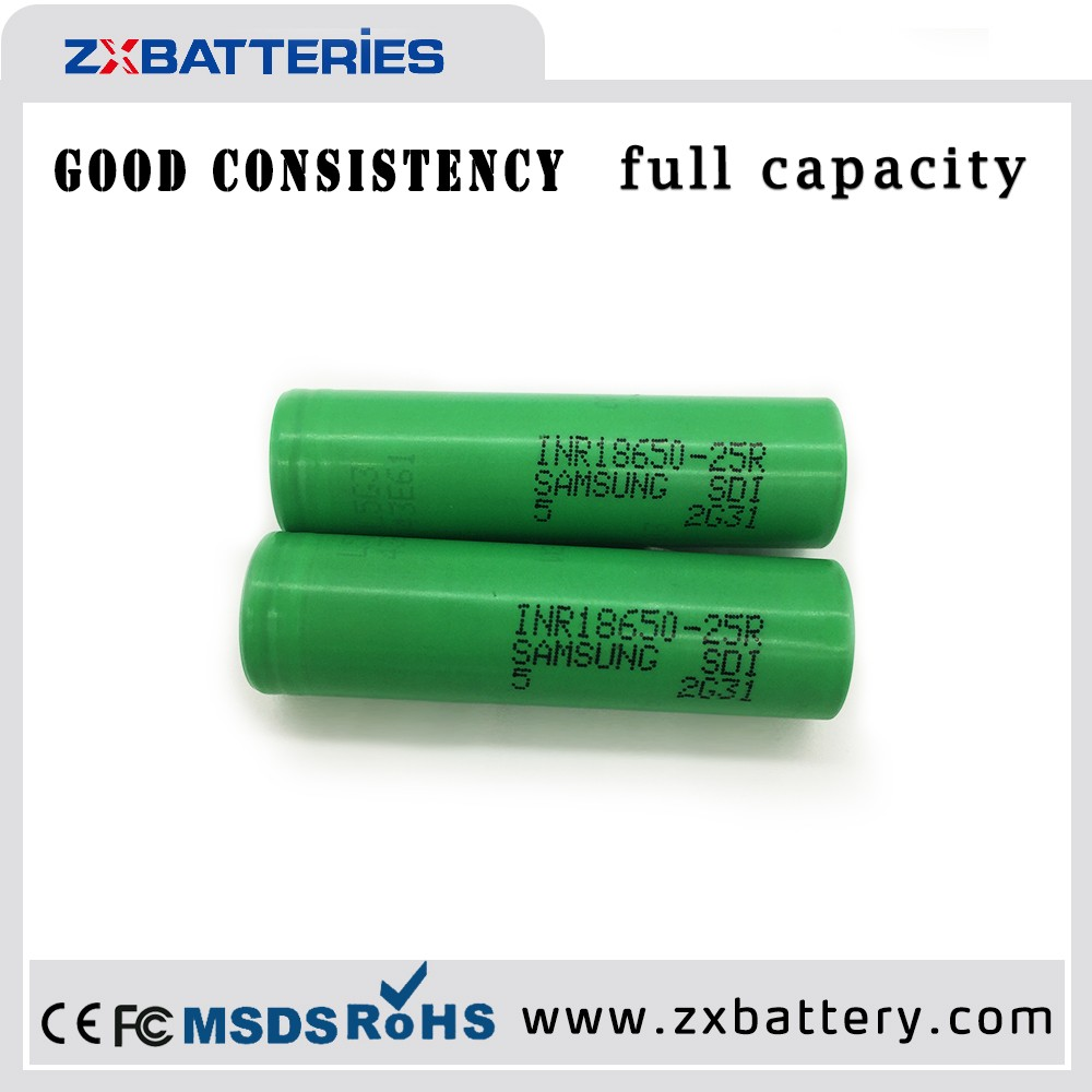 First power battery18650 25R 2500mAh High Drain Li-ion Battery for Samsung INR18650-25R for Electronic Cigarette/Power tool