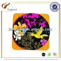 Promotionl novelty MDF cork coaster sets with customized logo TWC0835