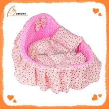 Soft cute pink beds cheap luxury pet supply