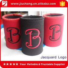 Neoprene single stubby beer bottle can cooler with stitching edge