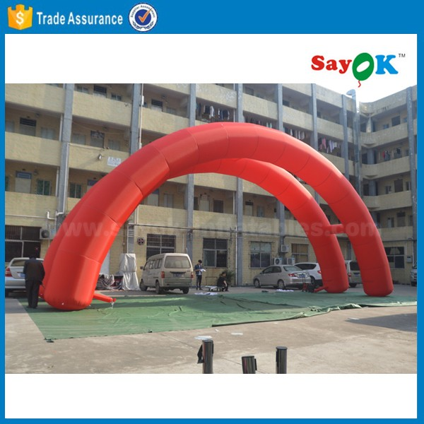start/ finish line outdoor event inflatable door newly design rainbow arch for racing